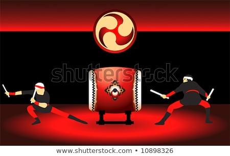 Pronto atuação dois japonês brilhante vermelho Foto stock © sahua
