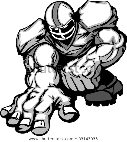 Football Player Lineman Vector Cartoon Stock photo © chromaco