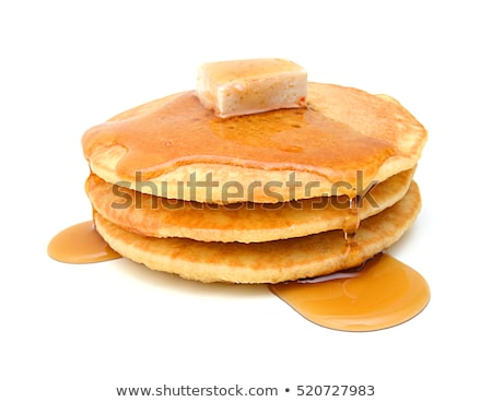 pancake isolated on white background stock photo © leonardi