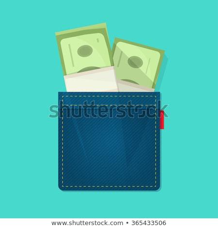 Stock fotó: Dollars In Jeans Pocket