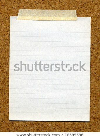 blanche · papier · vierge · coincé · Cork · fond · bande - photo stock © latent