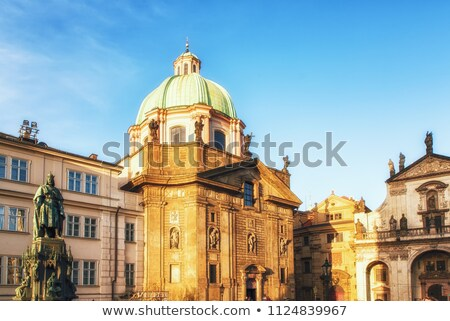 Céu edifício igreja azul linha do horizonte panorama Foto stock © LianeM
