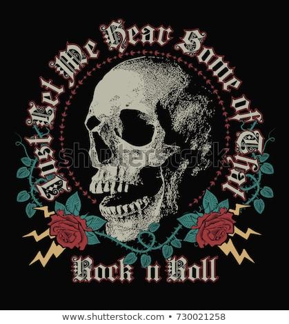 ストックフォト: Rock Skull Symbol