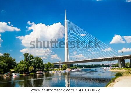 Yeni köprü Belgrat araba yol inşaat Stok fotoğraf © MilosBekic