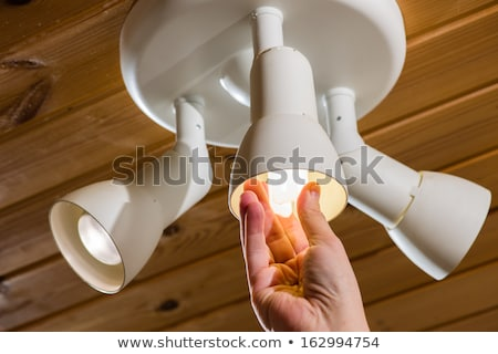 Electrician installing new light bulb Stock photo © photography33
