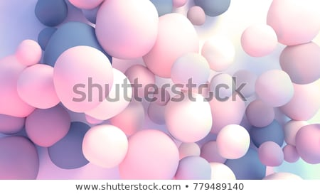 3d render abstract blue purple bubble backdrop Stock photo © Melvin07