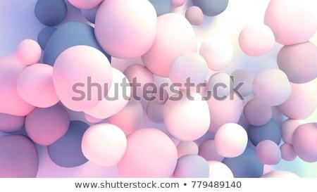 3d render absztrakt kék lila buborék háttér Stock fotó © Melvin07