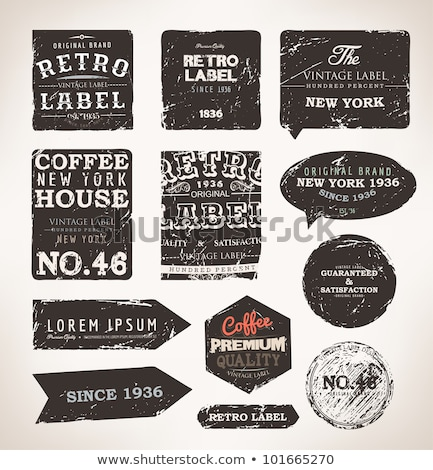 Stock photo: Old vector round retro vintage grunge stickers