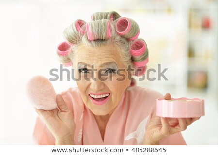 Old woman in rollers Stock photo © photography33