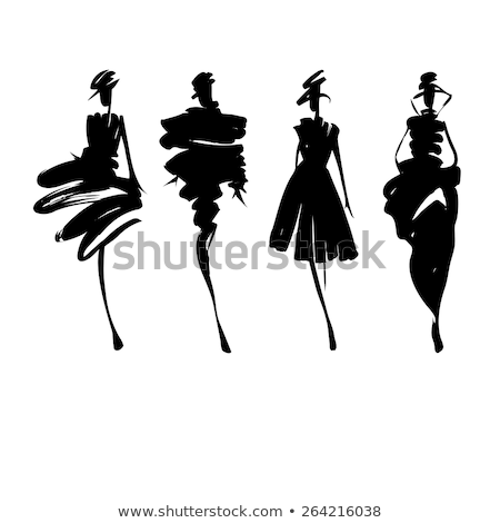 Stylized fashion models Stock photo © glyph