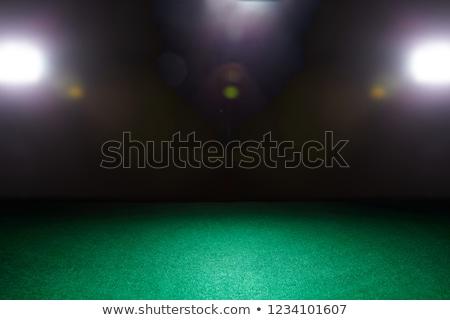 Casino veintiuna mesa verde espacio de la copia espadas Foto stock © morrbyte