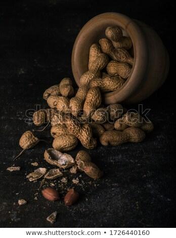 amendoins · branco · azul · nozes - foto stock © ozaiachin