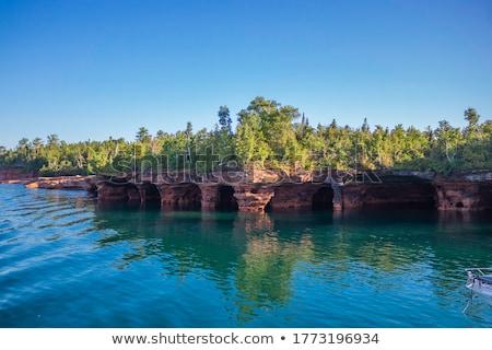 Morza jaskini panoramiczny widoku niebieski wody Zdjęcia stock © sirylok