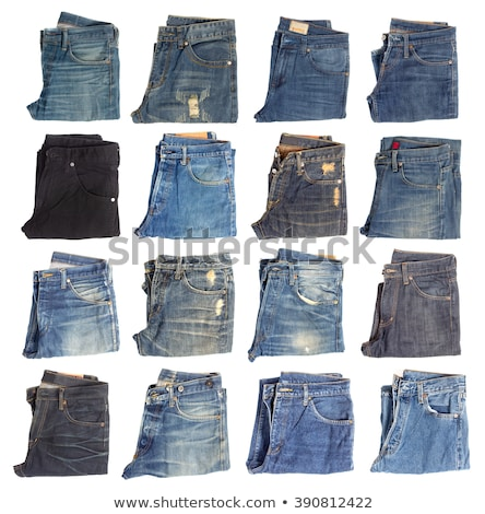 Stack of Folded Old Jeans Stock photo © zhekos