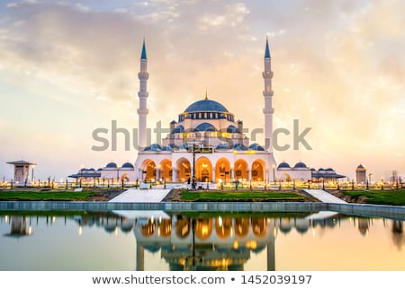 Mesquita Dubai tradicional árabe estilo urbano Foto stock © HypnoCreative