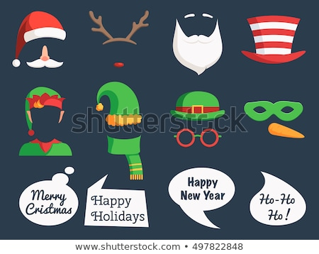 speech bubble faces with moustache, vector  Stock photo © beaubelle