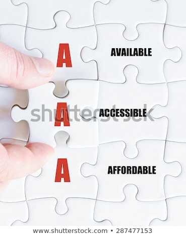 Acronym of AAA for available, accessible and affordable  Stock photo © bbbar