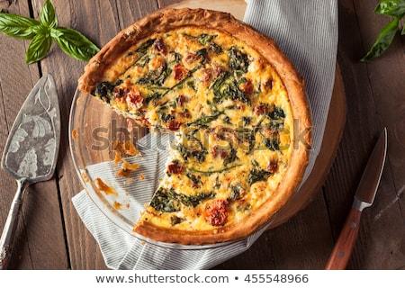 gourmet tomato quiche and basil Stock photo © M-studio