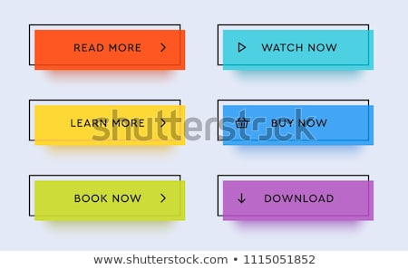 Vector set of simple buttons  Stock photo © Elisanth