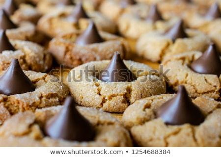 Pindakaas bloesems bloesem cookies Stockfoto © saje