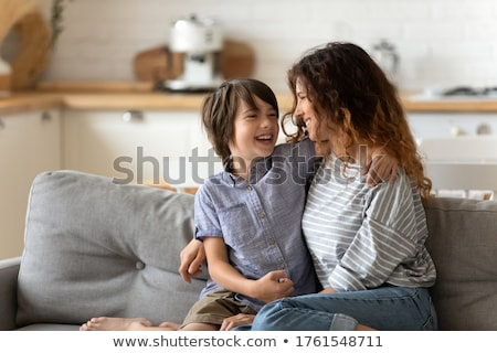 Stock fotó: Kicsi · fiú · jó · nevetés · derűs · körül