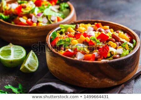 Stock fotó: Bean And Corn Salad With Chili