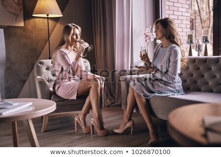 Two young women toasting with champagne  stock photo © CandyboxPhoto