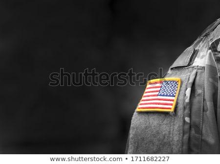 Exército Afeganistão quadro guerra serviço silhueta Foto stock © perysty