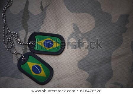 Ejército Brasil marco guerra servicio silueta Foto stock © perysty