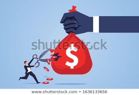 bér · vág · szöveg · olló · fizetés - stock fotó © devon