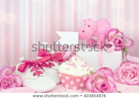 christening cake for girl stock photo © erierika