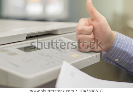 Modern digital printer on the white Stock photo © shutswis