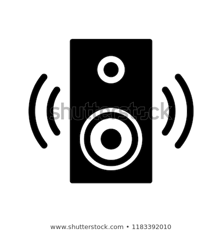 De audio orador icono notas musicales blanco metal Foto stock © fixer00