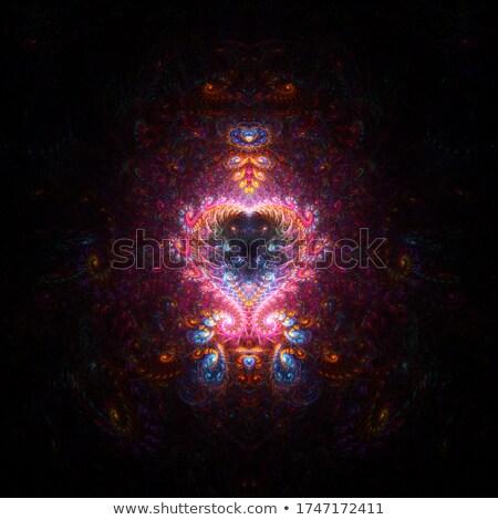 Fraktál szív absztrakt elrendezés szeretet szexi Stock fotó © ArenaCreative