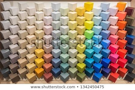 penseel · kleur · kaarten · schone · penseel · regenboog - stockfoto © compuinfoto
