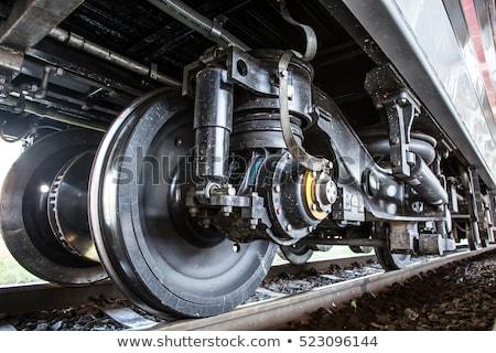buhar · tren · tekerlekler · muhteşem · lokomotif - stok fotoğraf © compuinfoto