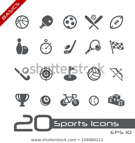 Sports icons basics vector Stock photo © mistervectors