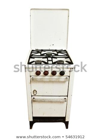 старые Vintage газ печи белый современных Сток-фото © ozaiachin