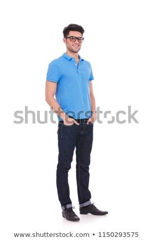 przypadkowy · człowiek · ręce · portret · szczęśliwy - zdjęcia stock © feedough