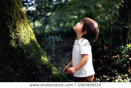 Curioso menino família cara corpo retrato Foto stock © konradbak