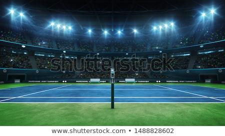 Döntőbíró teniszpálya férfi szék bíróság afrikai Stock fotó © photography33