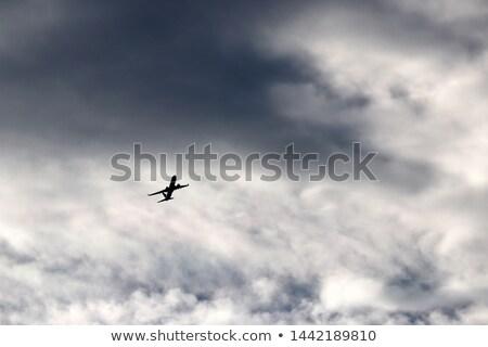 Repülőgép sötét viharos égbolt természet háttér Stock fotó © moses