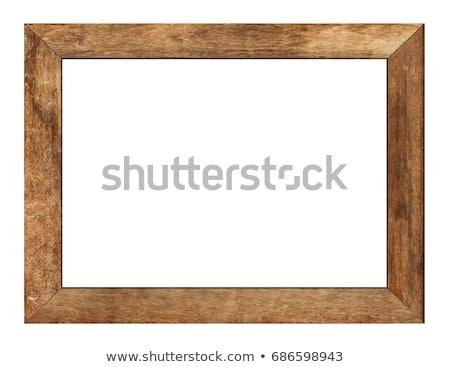 Boş ahşap kareler müze vektör karikatür Stok fotoğraf © pcanzo