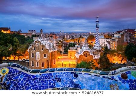 Nuit Barcelone ciel été parc vacances Photo stock © arturasker
