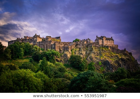 Edinburgh · kastély · Skócia · drámai · világítás · viharfelhők - stock fotó © photohome
