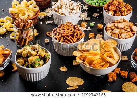 páprica · batatas · fritas · pequeno · tigela · fresco · macro - foto stock © rob_stark