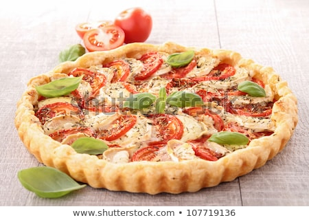 Сток-фото: Tomato Basil And Mozzarella Tart