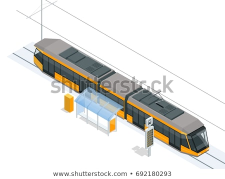 Large modern tram station stock photo © photosebia