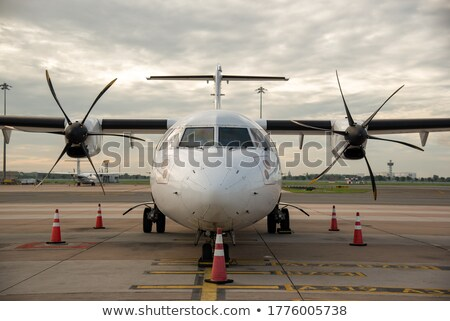Small airplane parking - front view Stock photo © RuslanOmega
