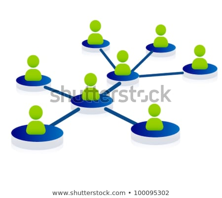 Cloud computing pictogram on green background stock photo © seiksoon